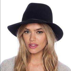 Janessa Leone Vera Black Wool Hat